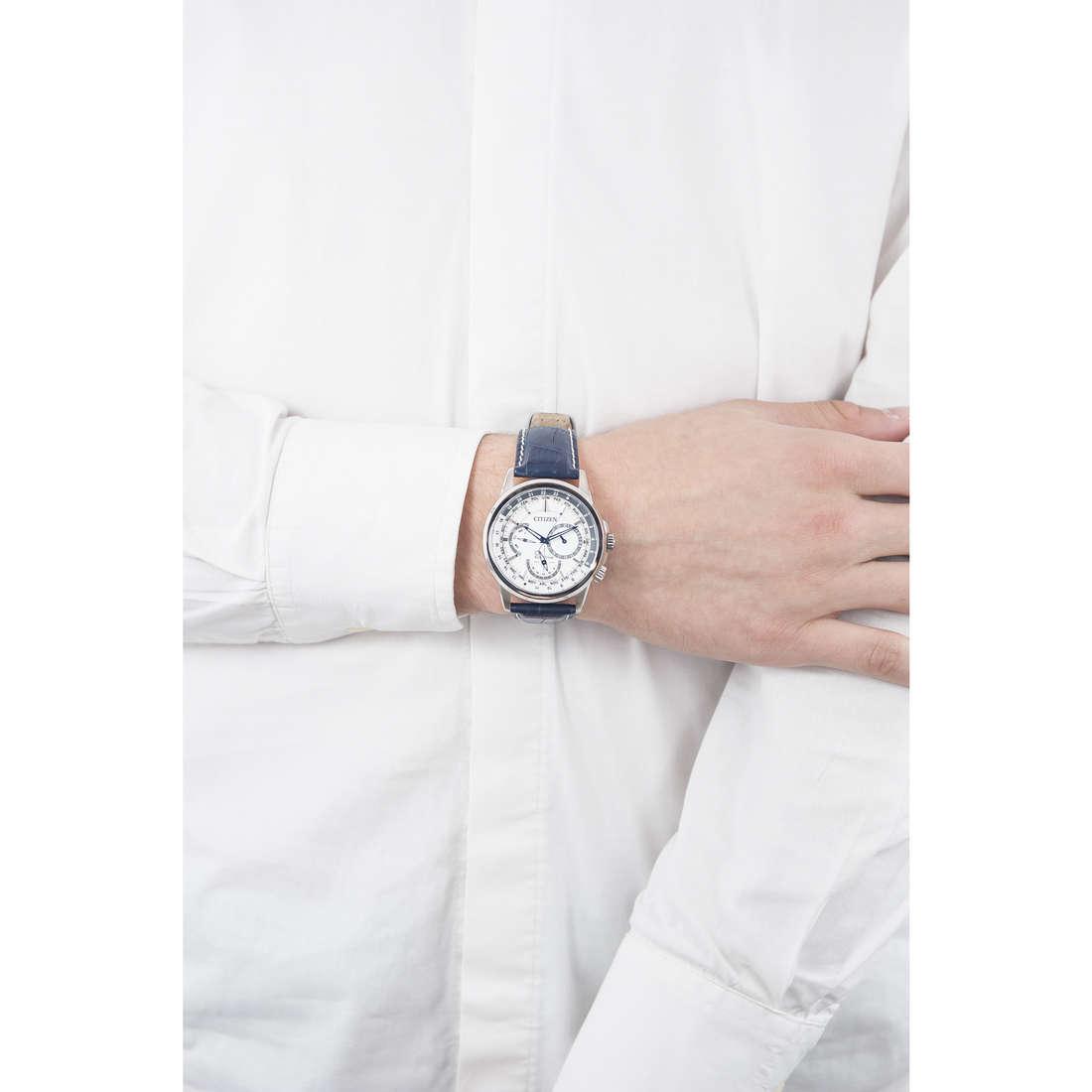 Citizen chronographes Calendrier homme BU2020-11A indosso