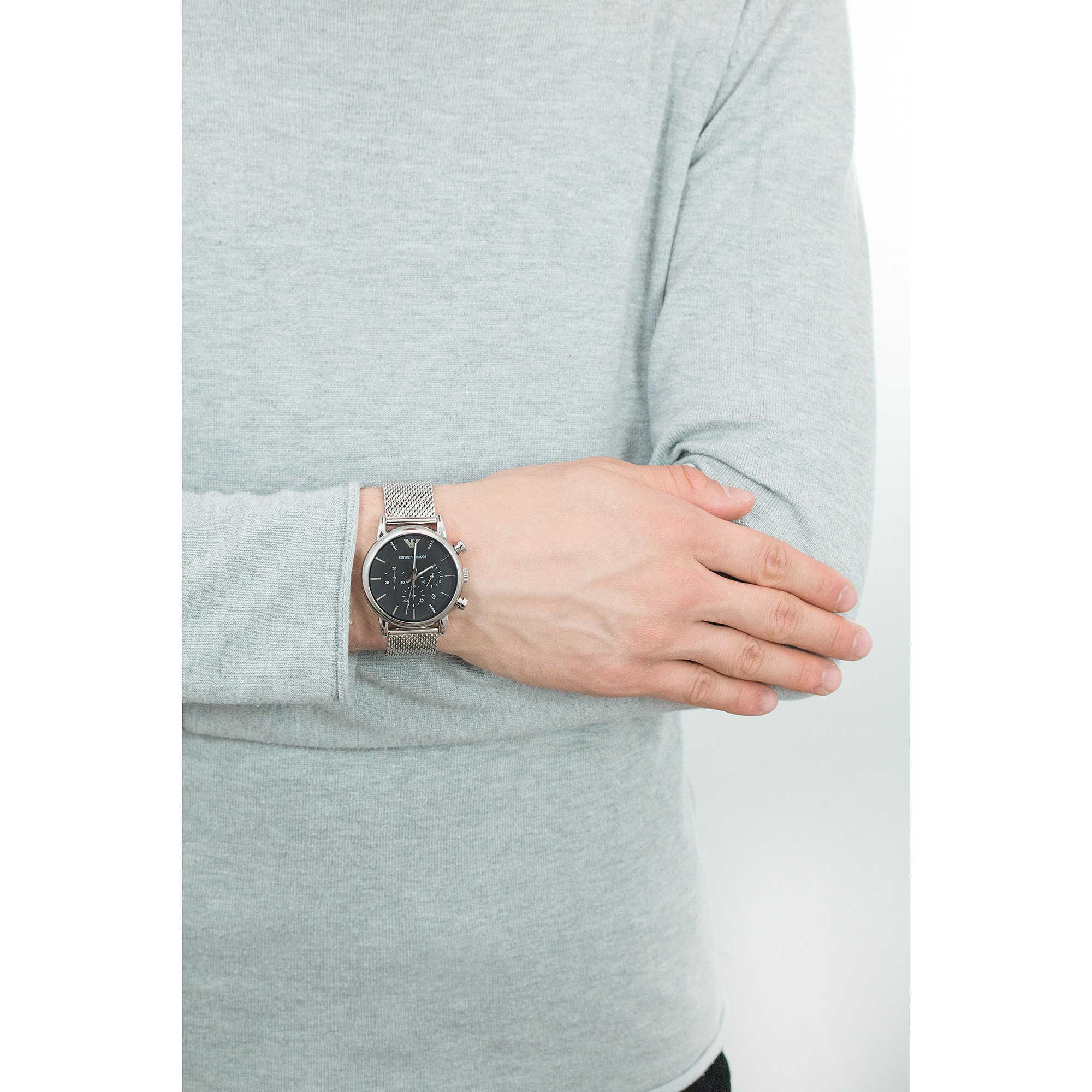 505881e1e124d montre chronographe homme Emporio Armani AR1811 chronographes ...