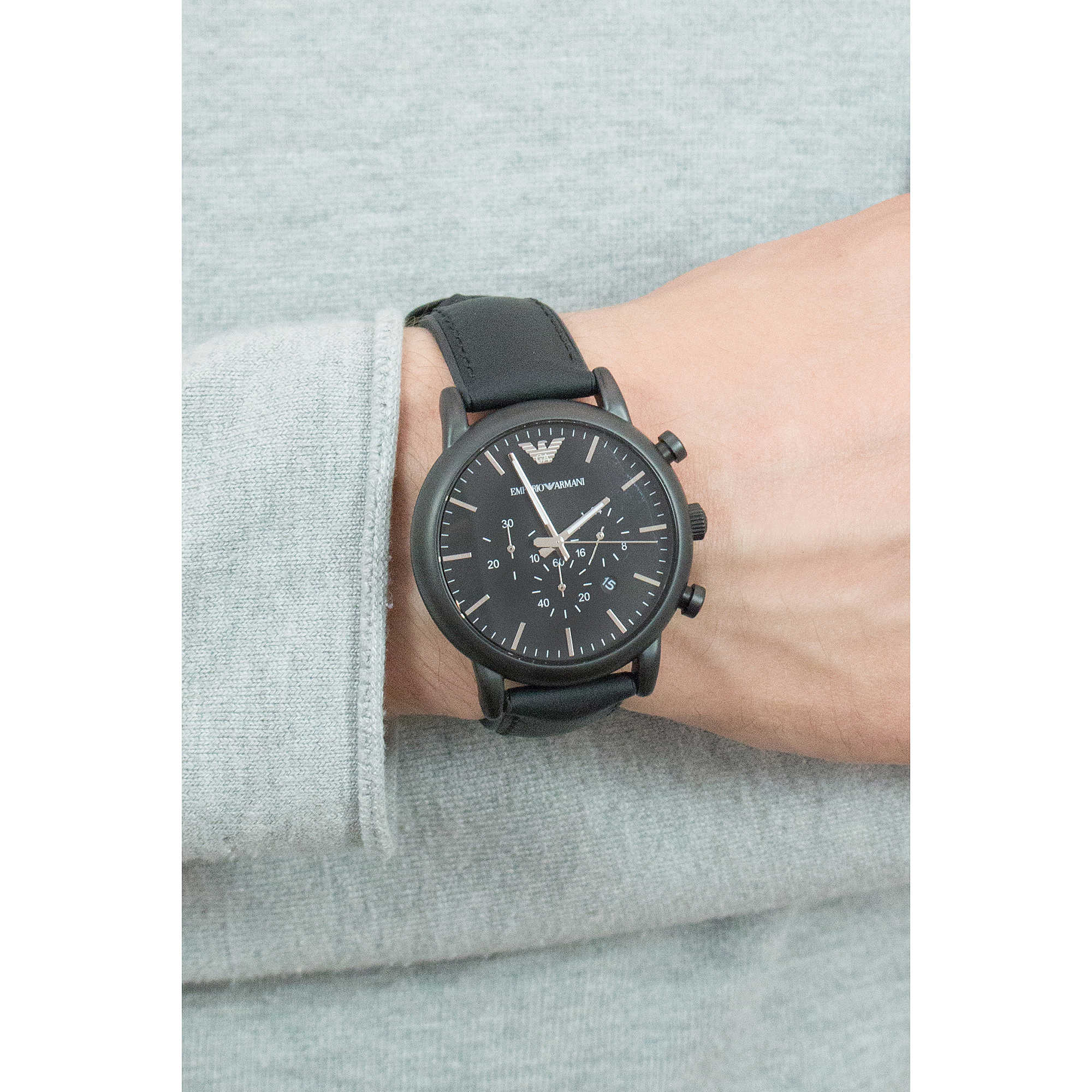 ad48c6b3e157 montre chronographe homme Emporio Armani AR1970 chronographes ...