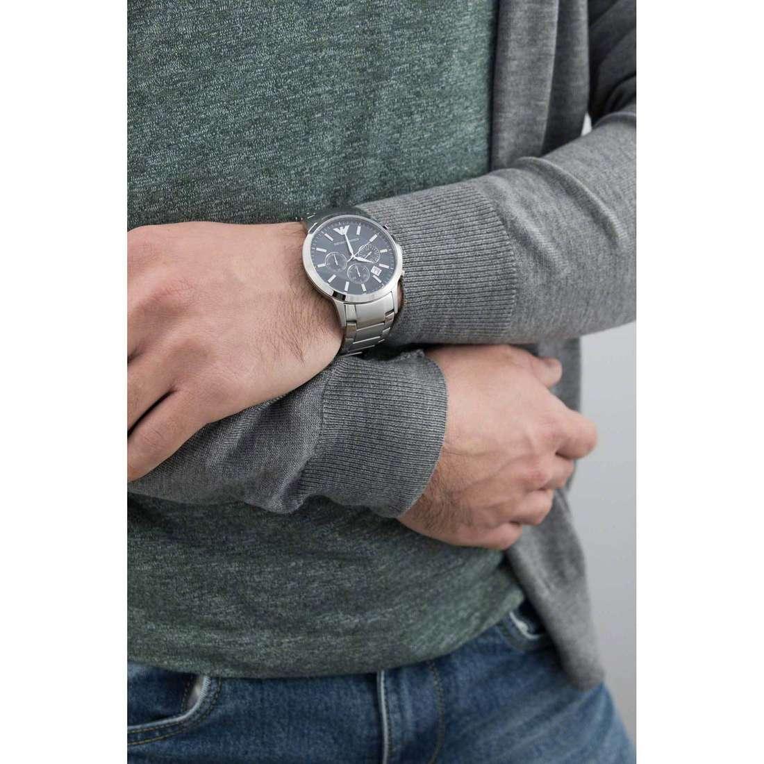 Emporio Armani chronographes homme AR2448 indosso