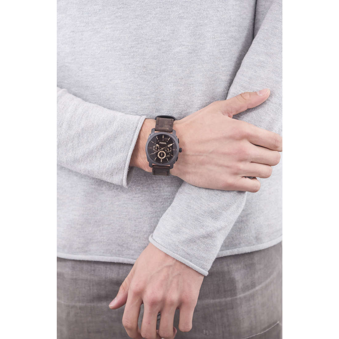 Fossil chronographes homme FS4656 indosso