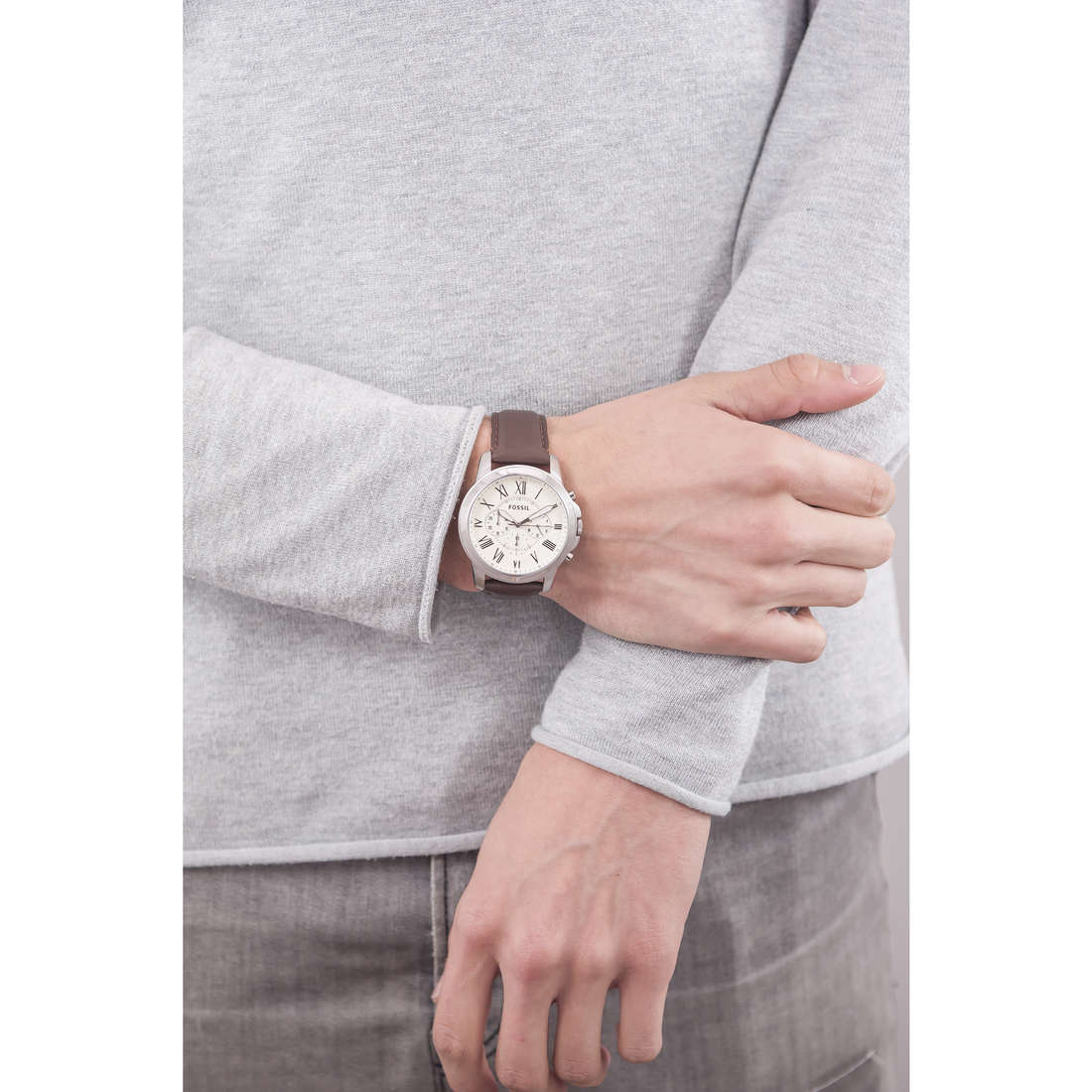 Fossil chronographes homme FS4735 indosso