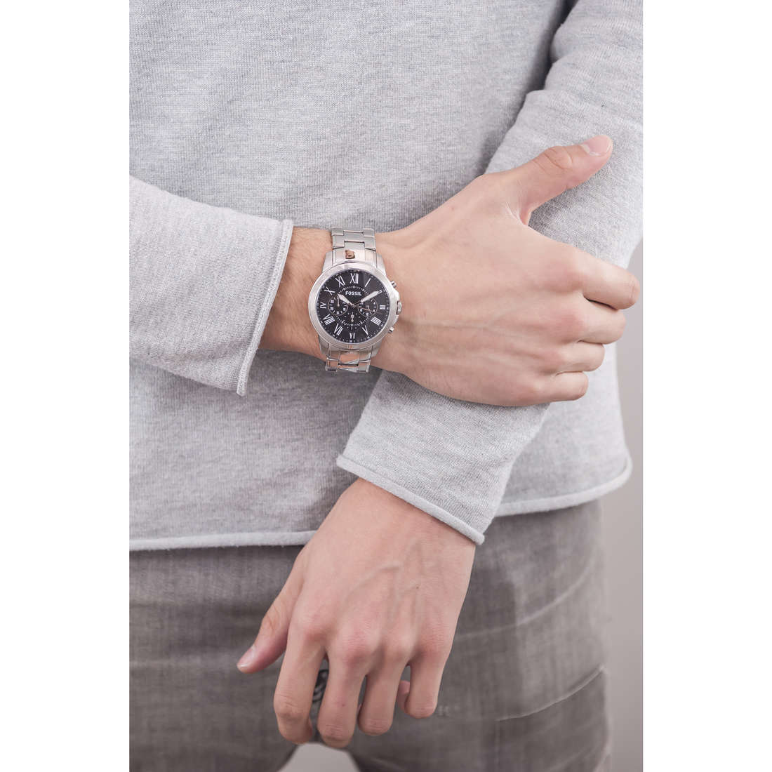 Fossil chronographes homme FS4736 indosso