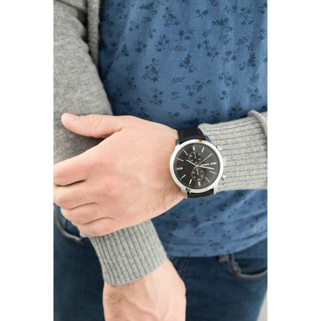 Fossil chronographes homme FS4866 indosso