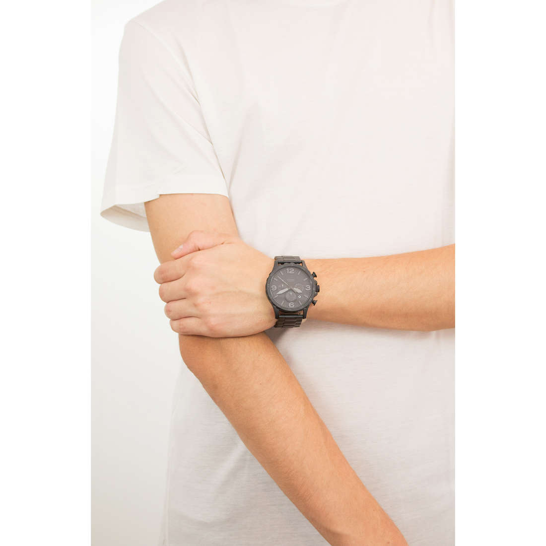 Fossil chronographes homme JR1401 indosso