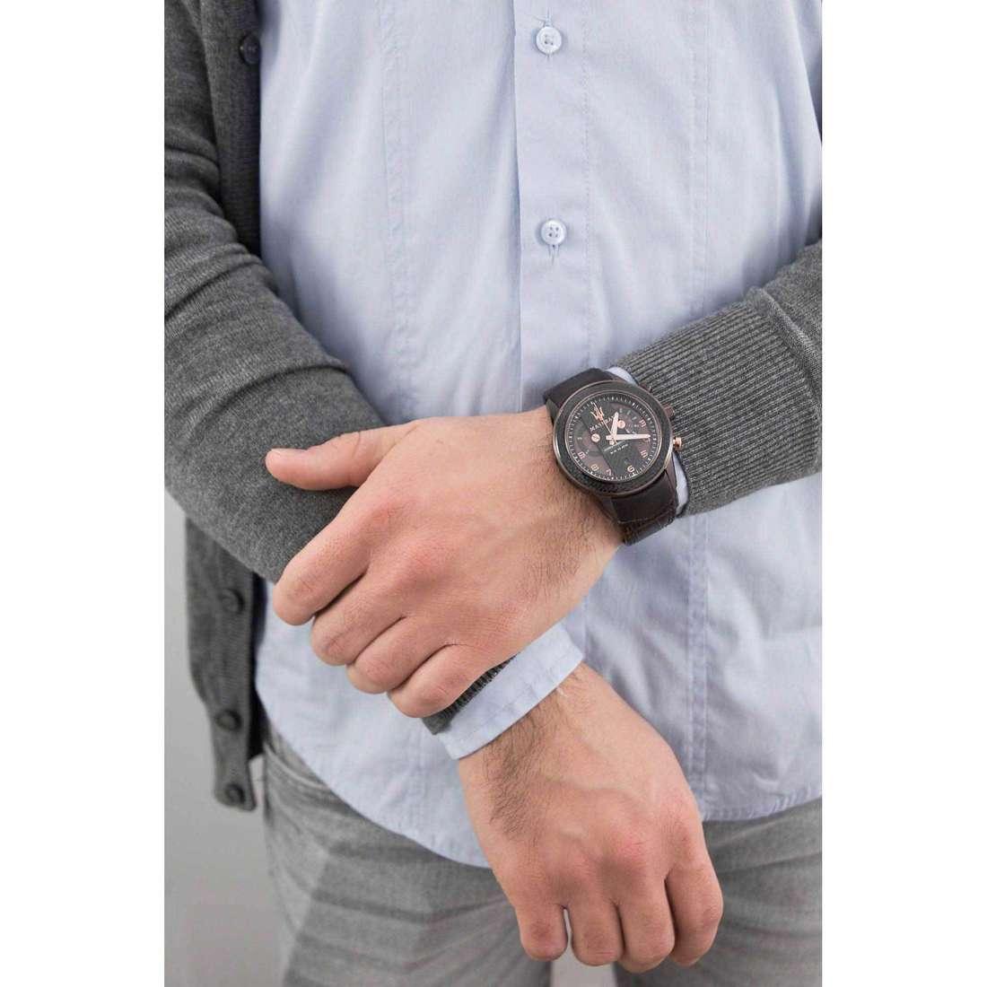 Maserati chronographes Corsa homme R8871610003 indosso