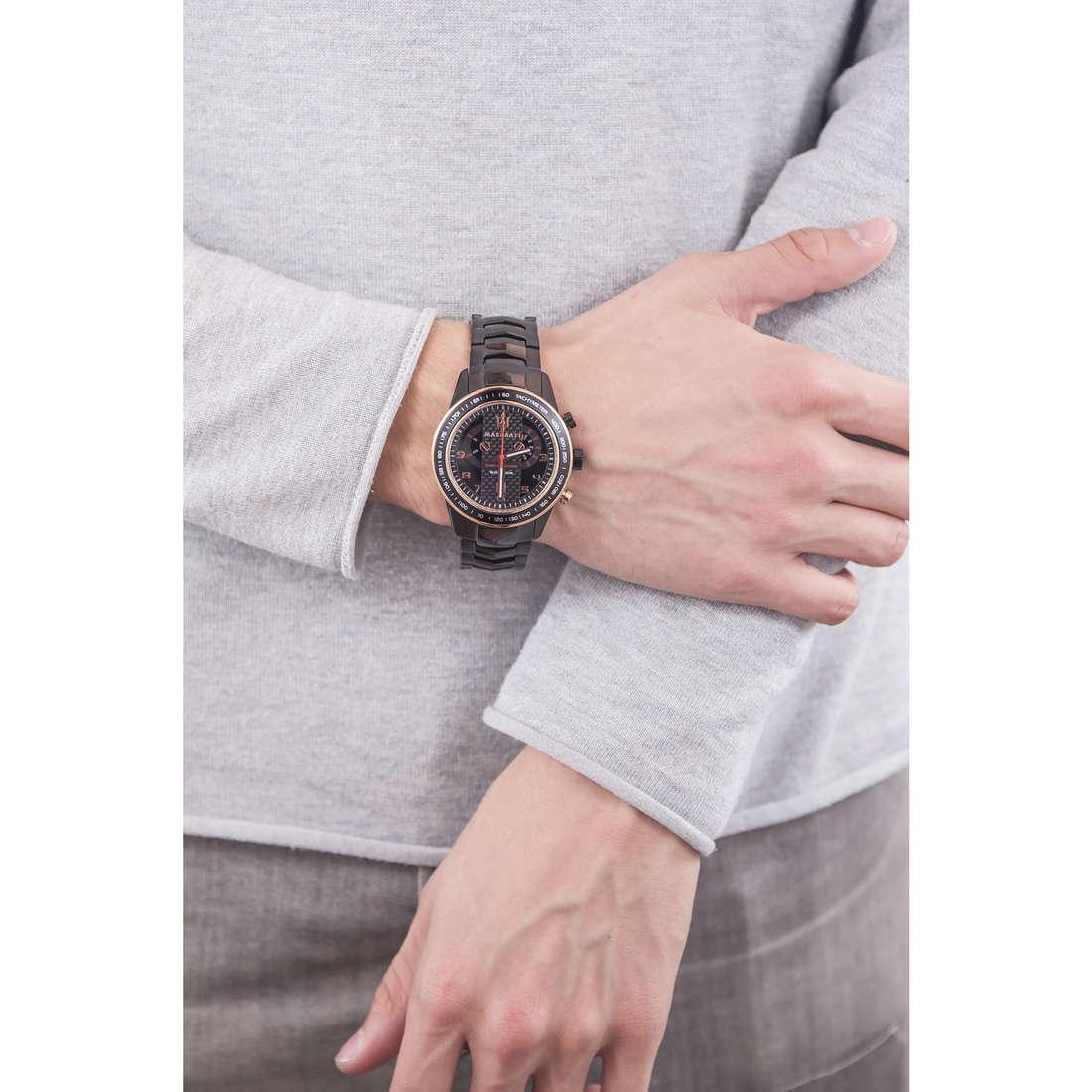 Maserati chronographes Corsa homme R8873610002 indosso