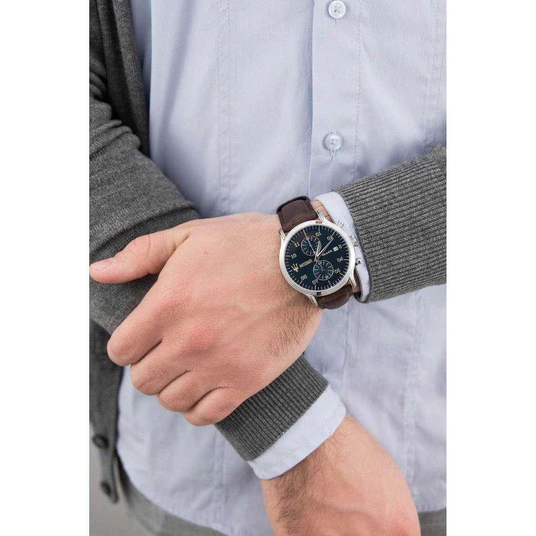 Maserati chronographes Epoca homme R8871618006 indosso