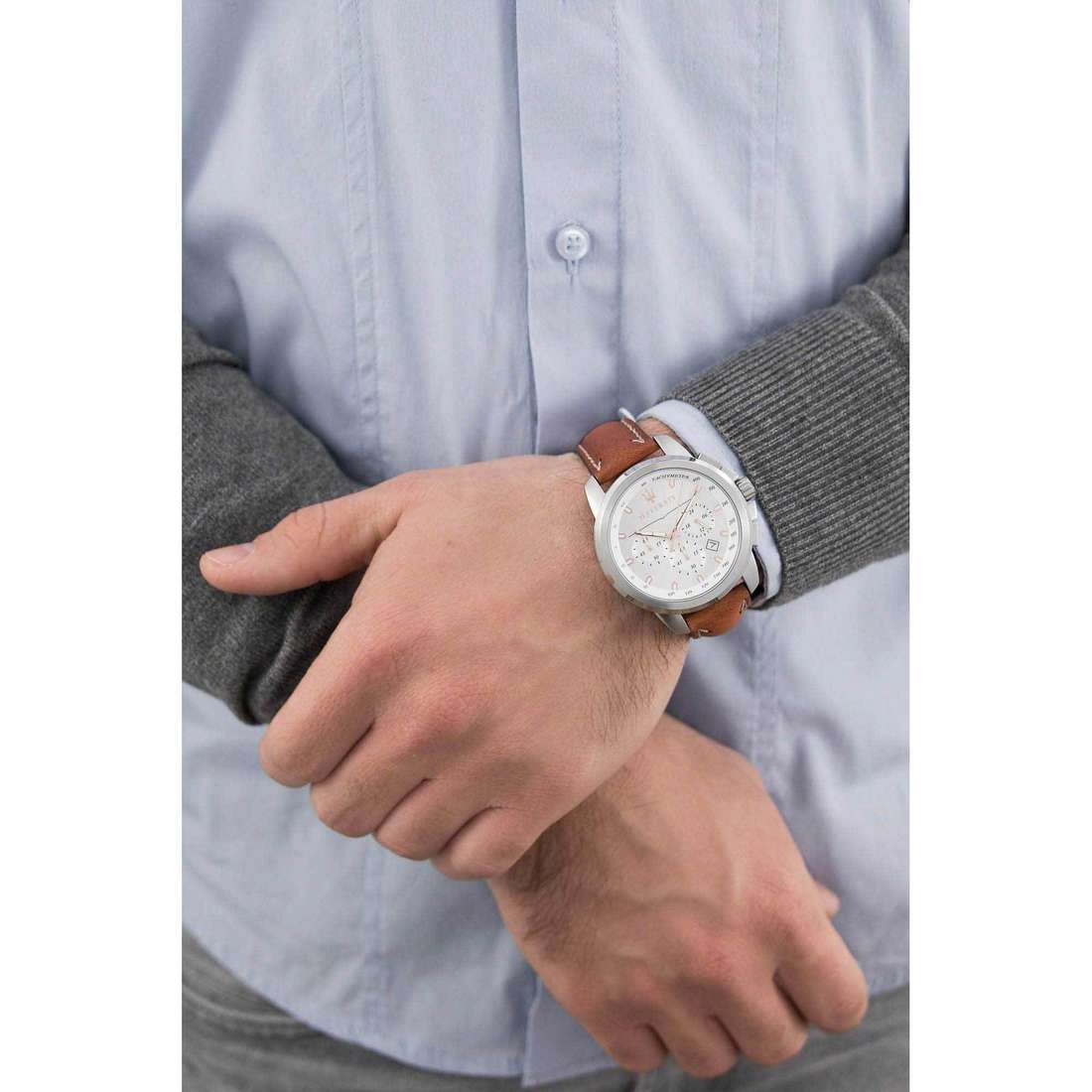 Maserati chronographes Successo homme R8871621005 indosso