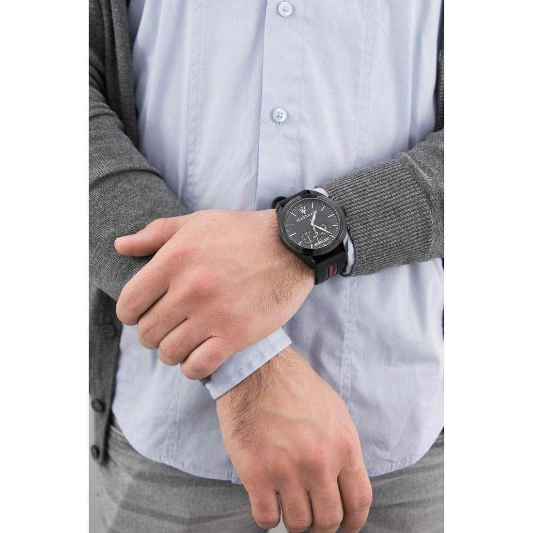 Maserati chronographes Traguardo homme R8871612004 indosso