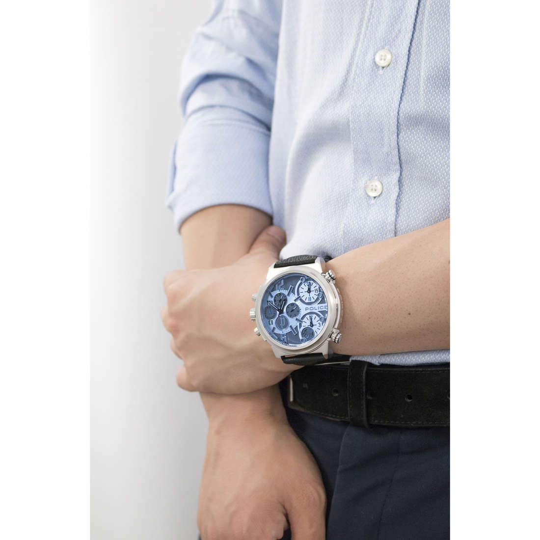 Police chronographes Viper homme R1471684001 indosso