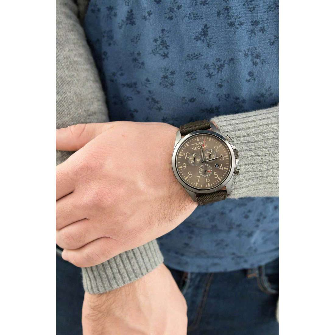 Sector chronographes 180 homme R3271690021 photo wearing