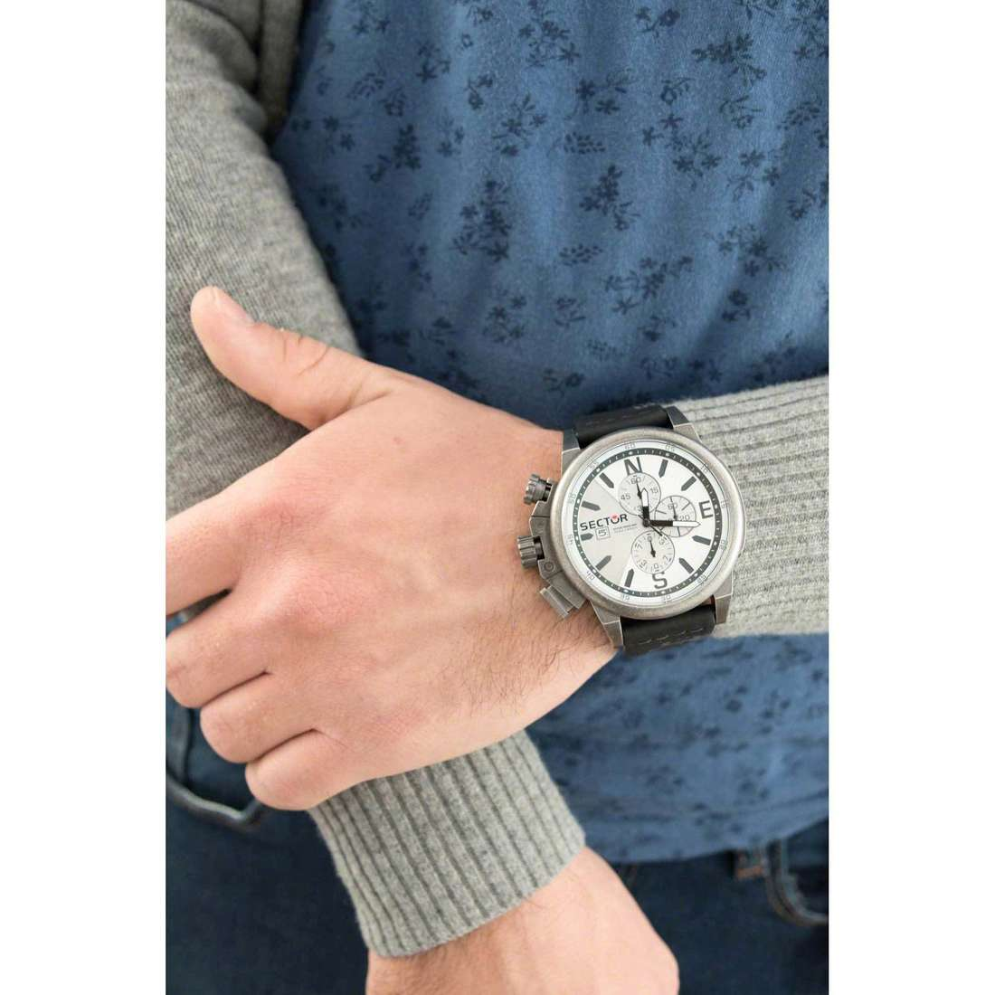 Sector chronographes 450 homme R3271776008 photo wearing