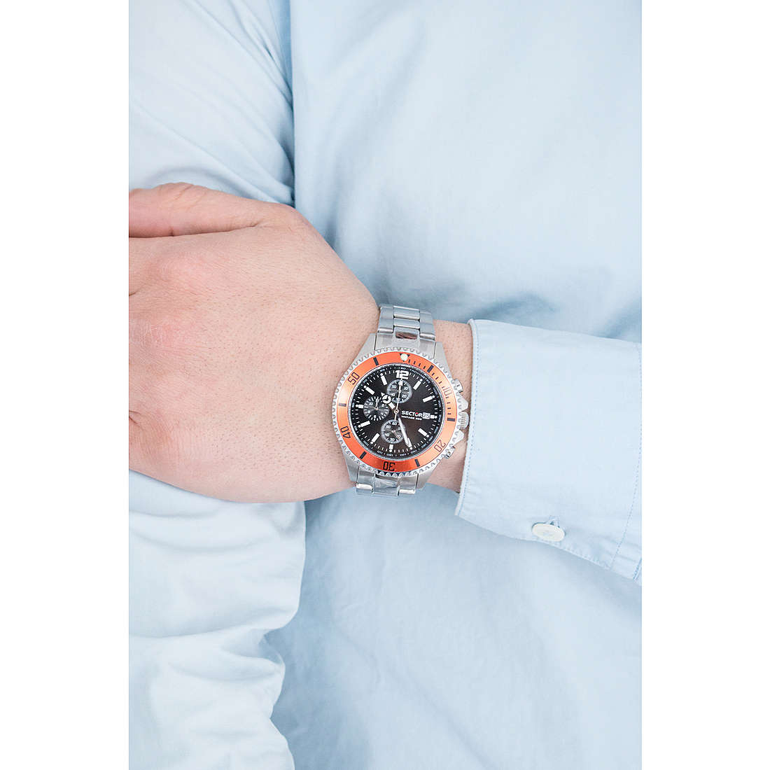 Sector chronographes Marine230 homme R3273661001 photo wearing