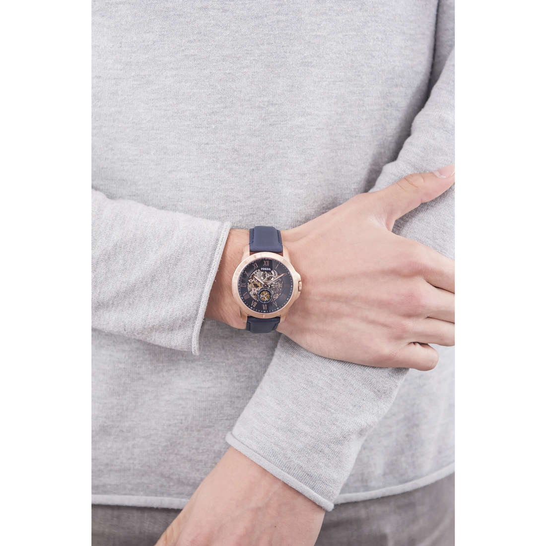 Fossil mécaniques Grant homme ME3054 photo wearing