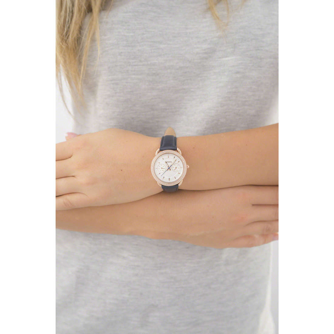 Fossil multifonction Tailor femme ES4052 photo wearing