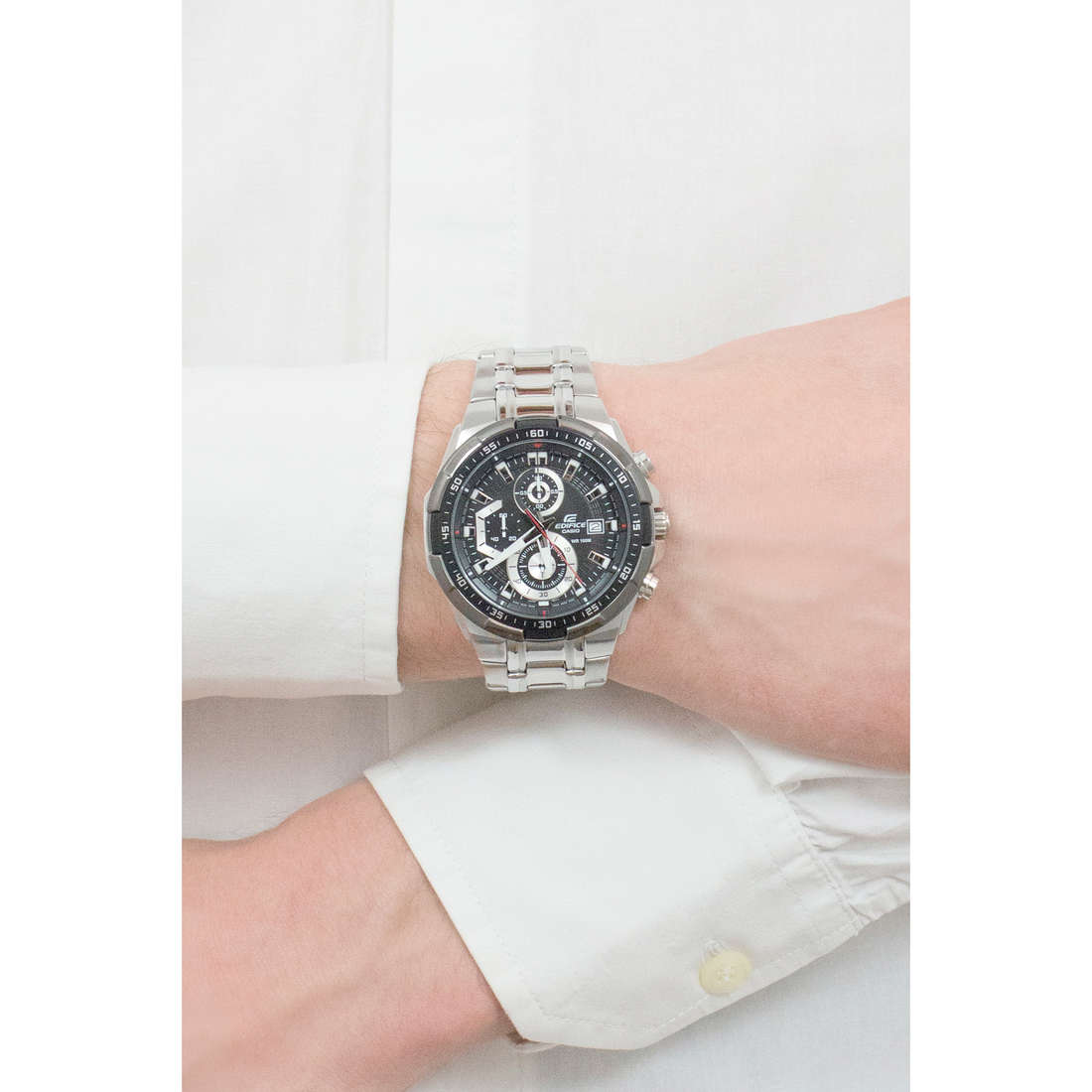 Casio multifonction Edifice homme EFR-539D-1AVUEF photo wearing