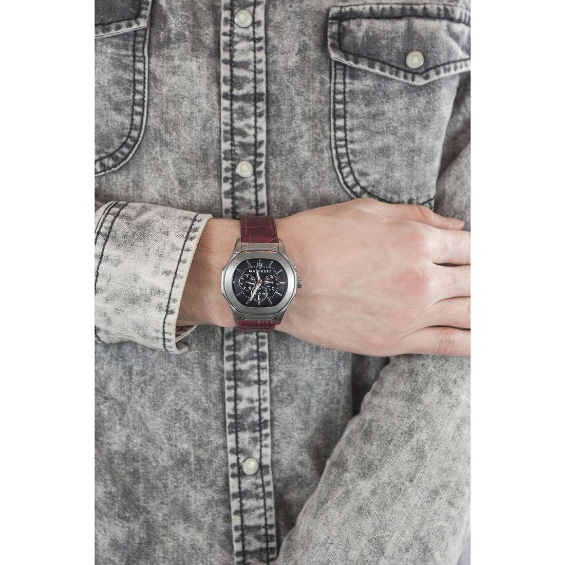 Maserati chronographes Fuori Classe homme R8851116007 indosso