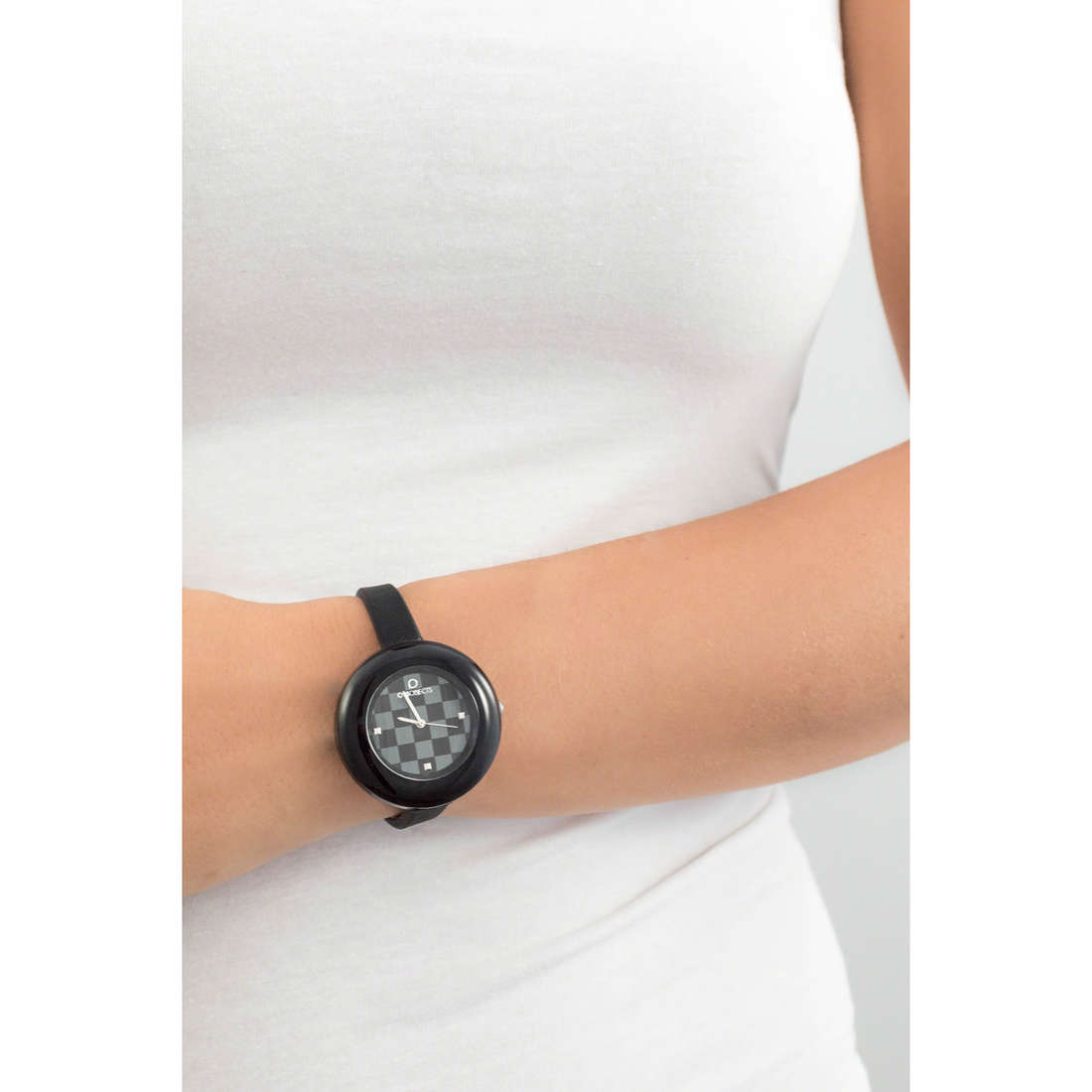 Ops Objects seul le temps Damier femme OPSPW-25 photo wearing