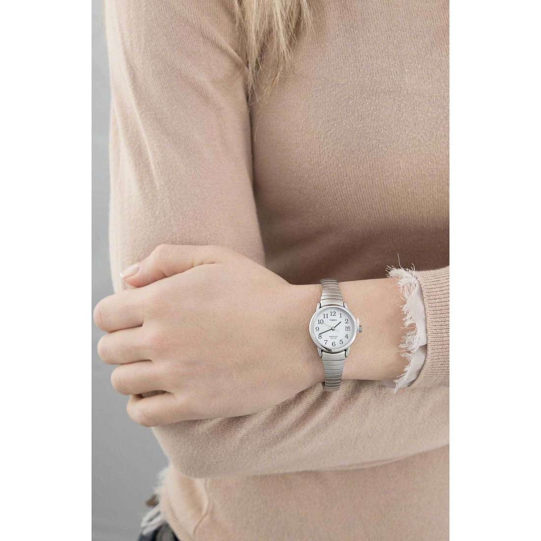 Timex seul le temps Easy Reader femme T2H371 indosso
