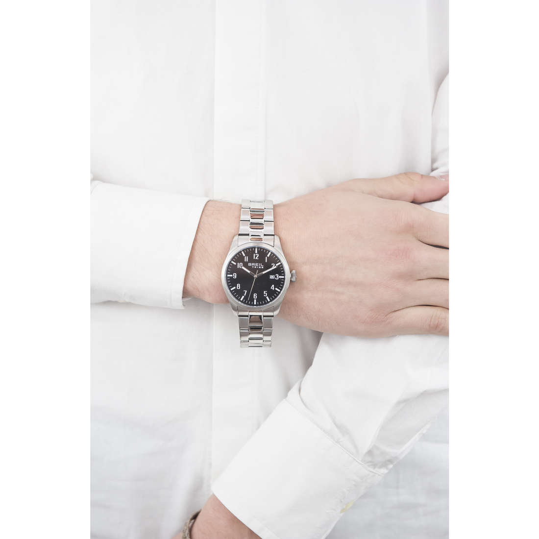Breil seul le temps Classic Elegance Extension homme EW0232 indosso