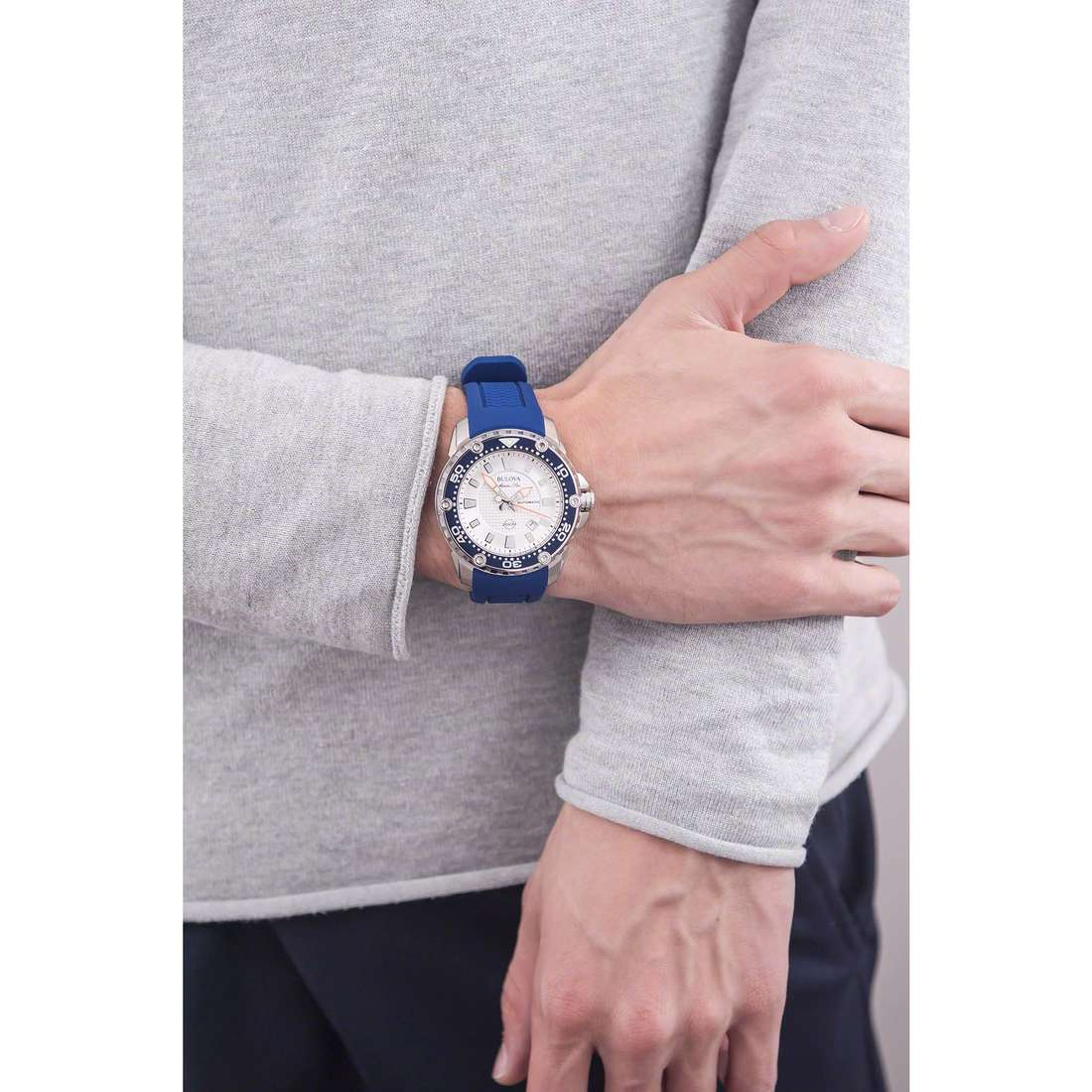 Bulova seul le temps Marine Star homme 98B208 photo wearing