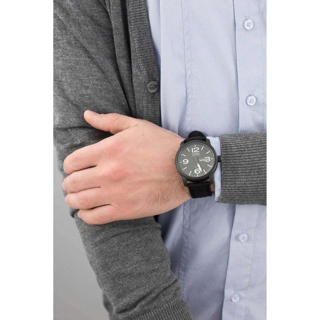 Citizen seul le temps Eco-Drive homme BM8476-15X indosso