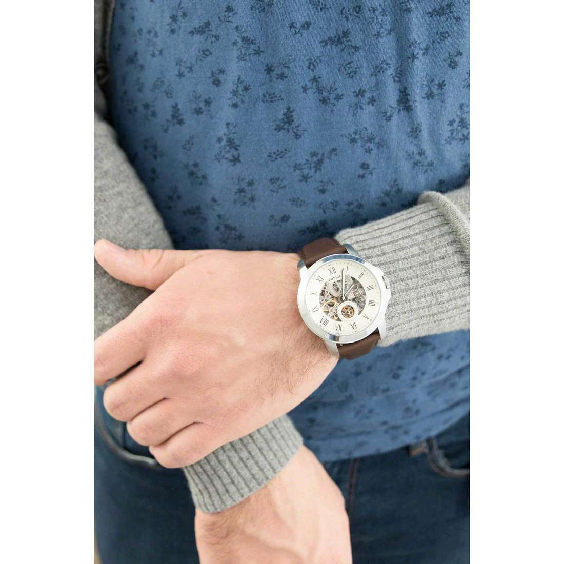 Fossil seul le temps Grant homme ME3052 indosso