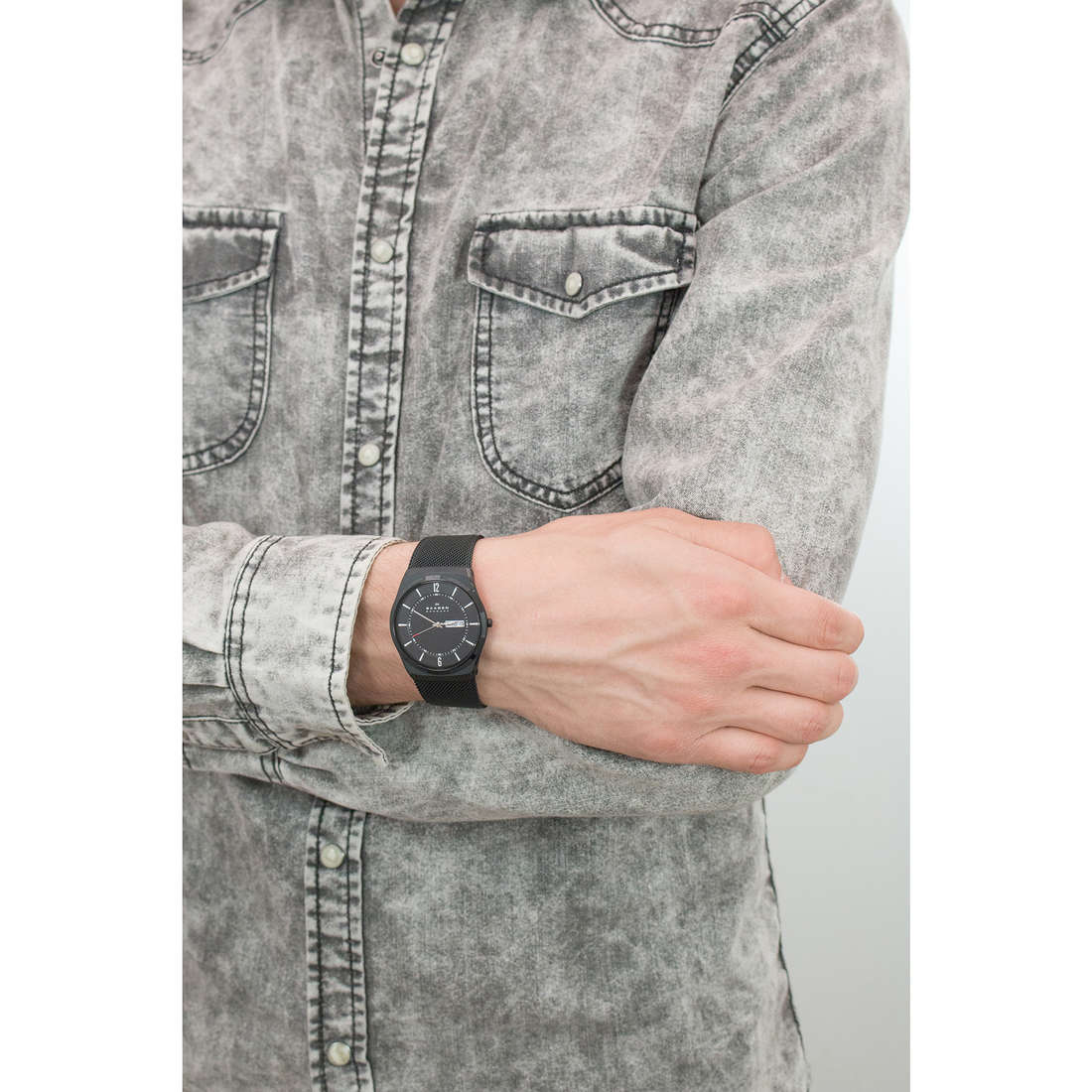 Skagen seul le temps Melbye homme SKW6006 photo wearing