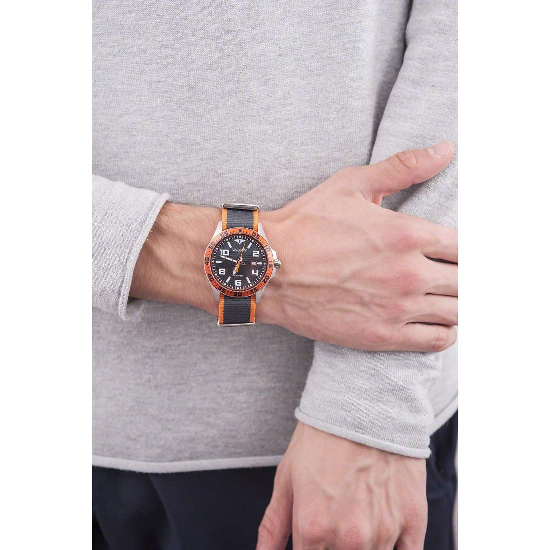 Vagary By Citizen seul le temps Aqua 39 homme IB7-317-60 photo wearing
