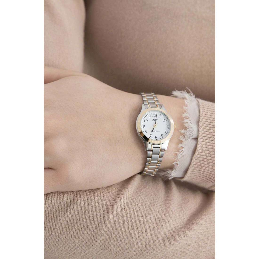 Casio seul le temps Casio Collection unisex LTP-1263PG-7BEF indosso