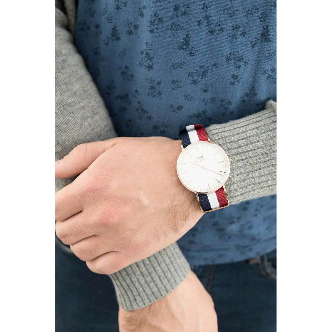 Daniel Wellington seul le temps Classic unisex DW00100003 photo wearing