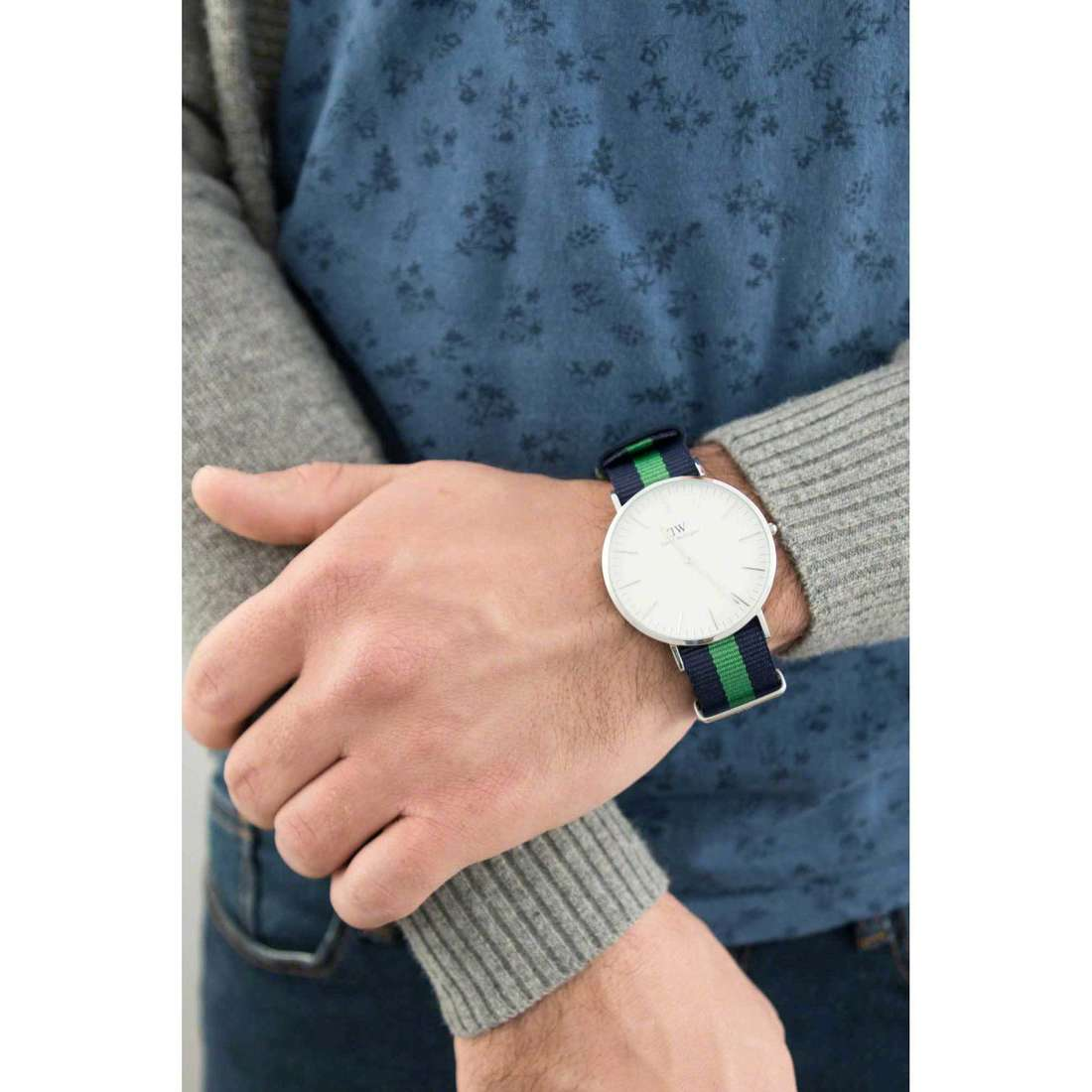 Daniel Wellington seul le temps Classic unisex DW00100019 photo wearing