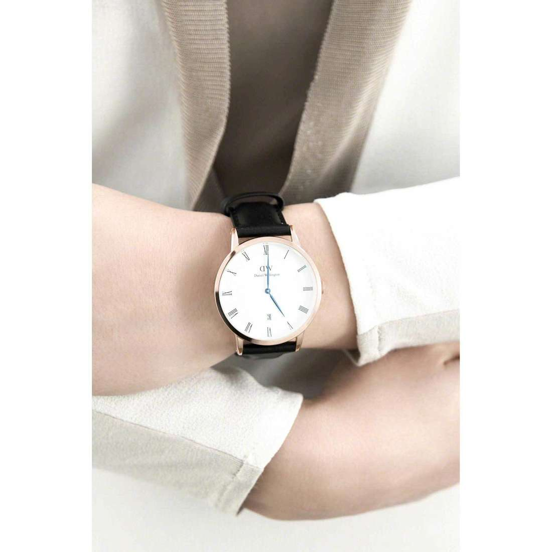 Daniel Wellington seul le temps Dapper femme DW00100084 photo wearing
