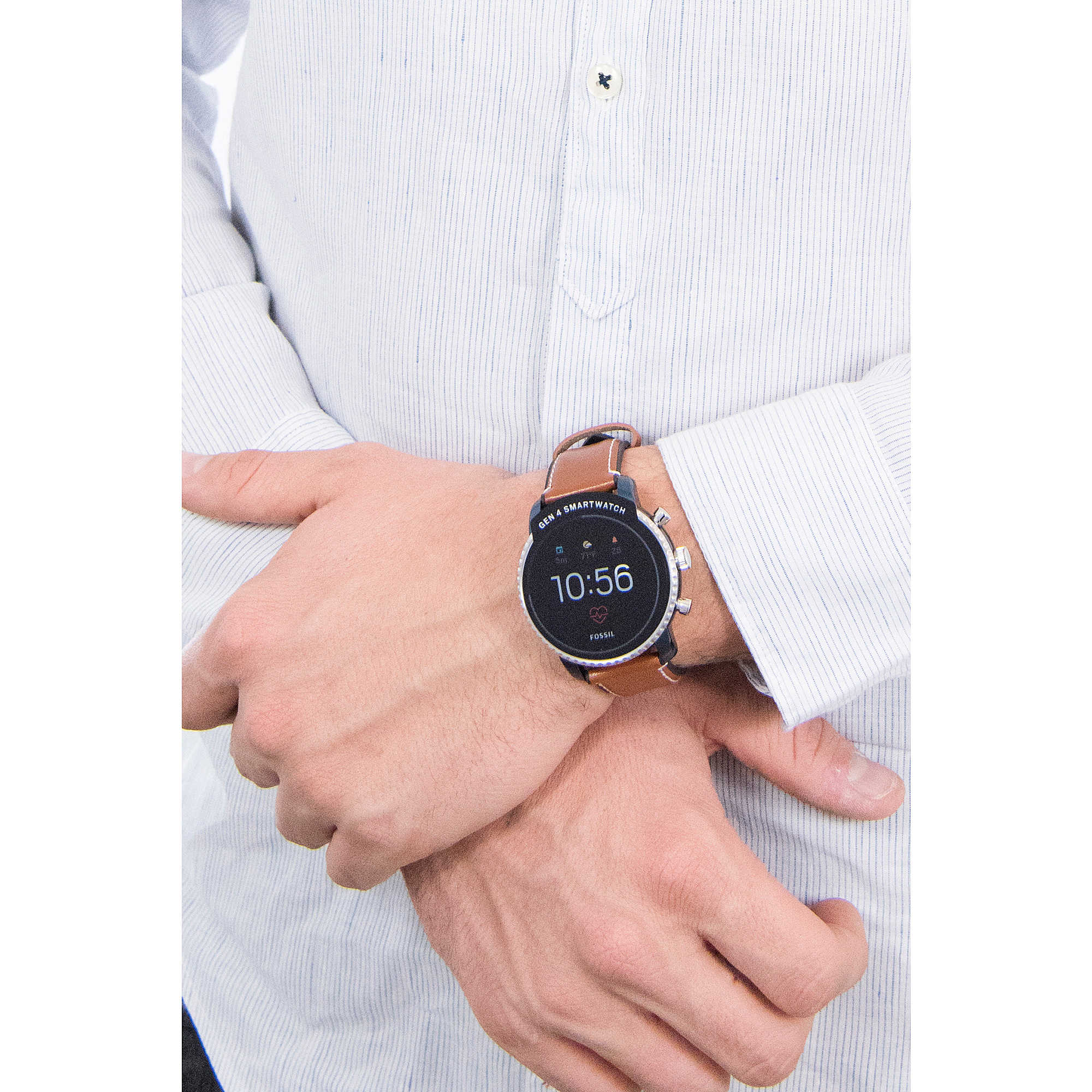 Smartwatch Fossil Homme Montre Smartwatches Ftw4016 N0Ovnw8m