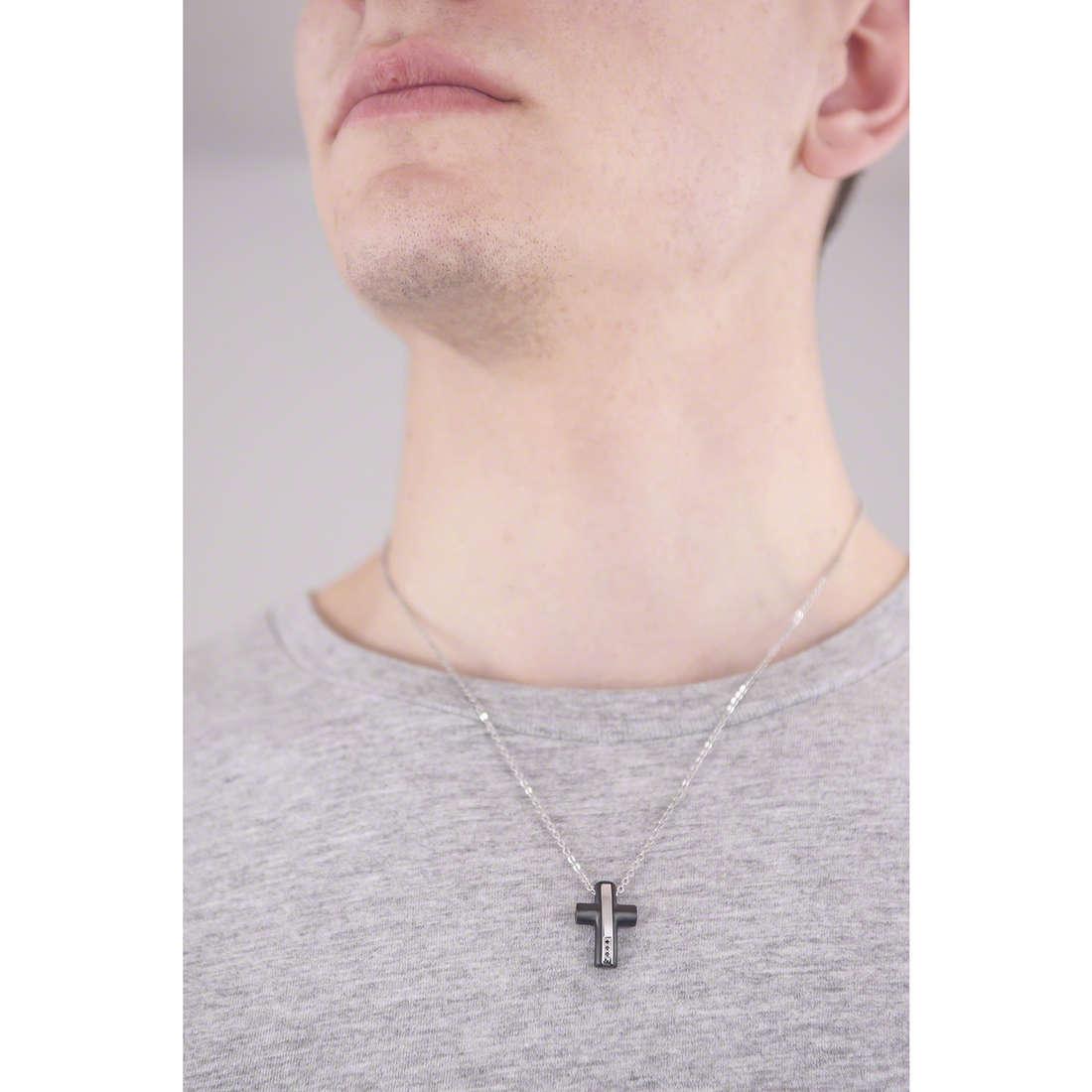 4US Cesare Paciotti necklaces man 4UCL1242 indosso