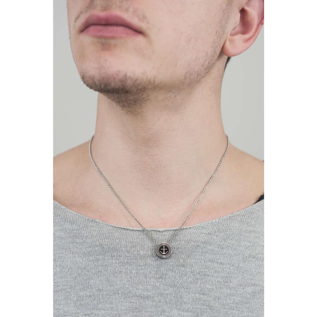 Brosway necklaces Nautilus man BNU04 indosso