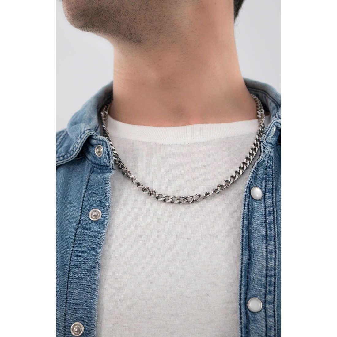 Cesare Paciotti necklaces man JPCL0037B indosso