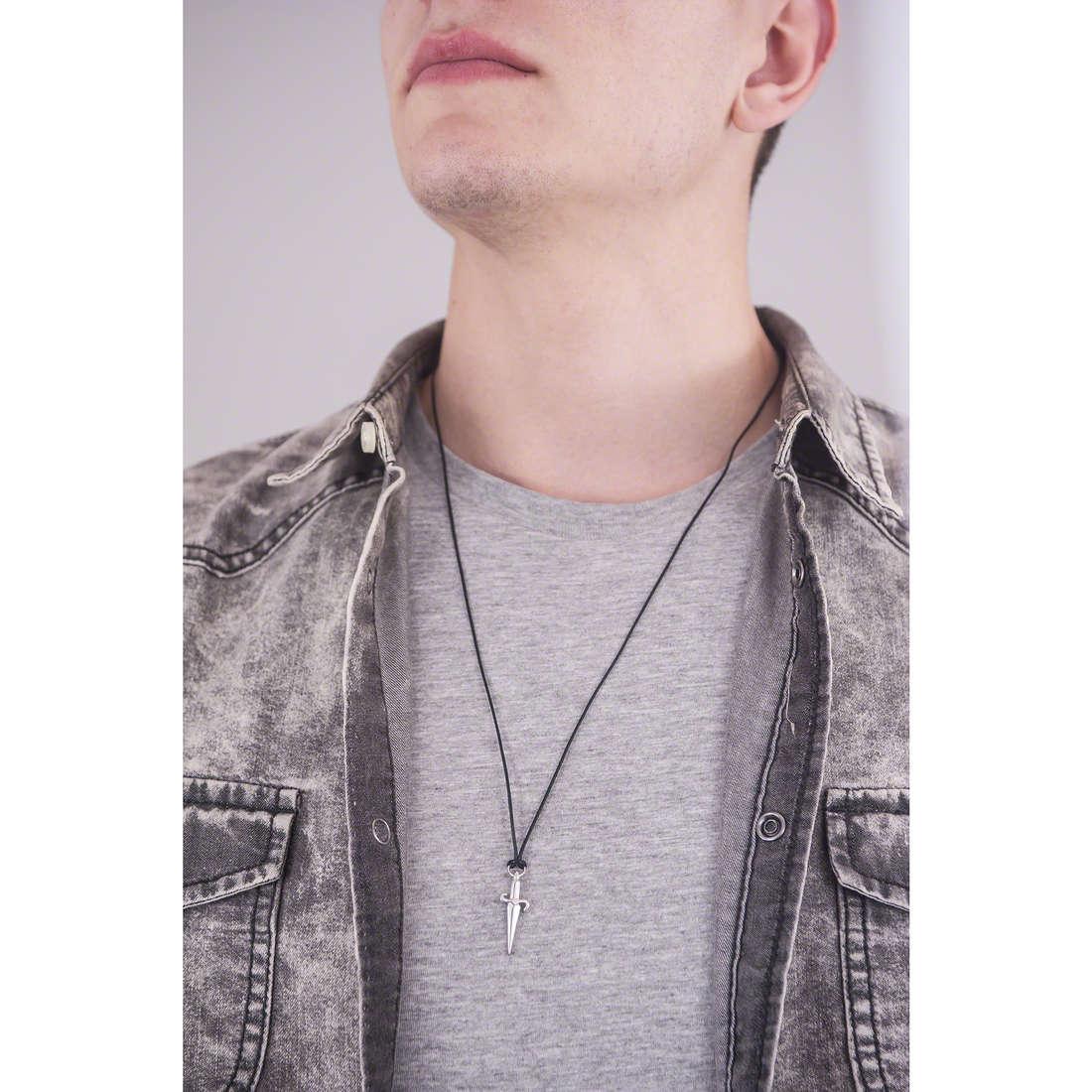 Cesare Paciotti necklaces man JPCL0053B indosso