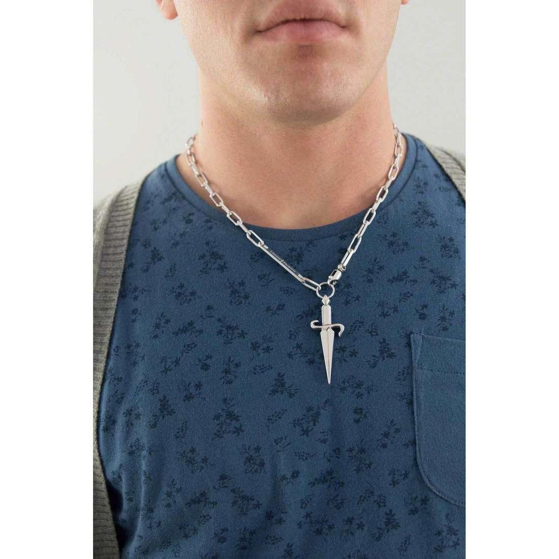 Cesare Paciotti necklaces man JPCL0116B indosso
