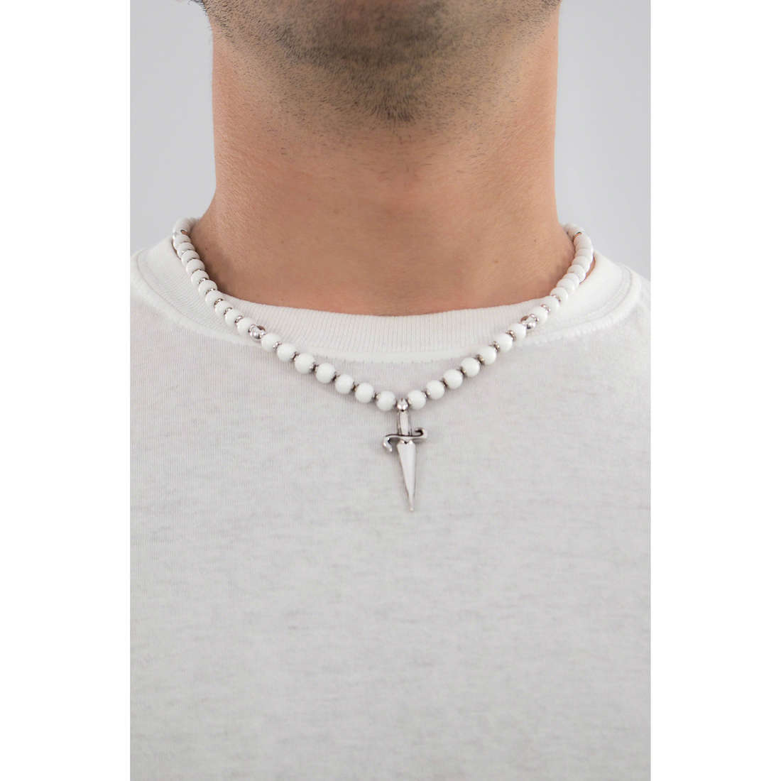 Cesare Paciotti necklaces man JPCL0123B indosso