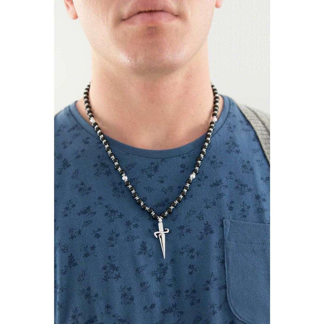 Cesare Paciotti necklaces man JPCL0191B indosso