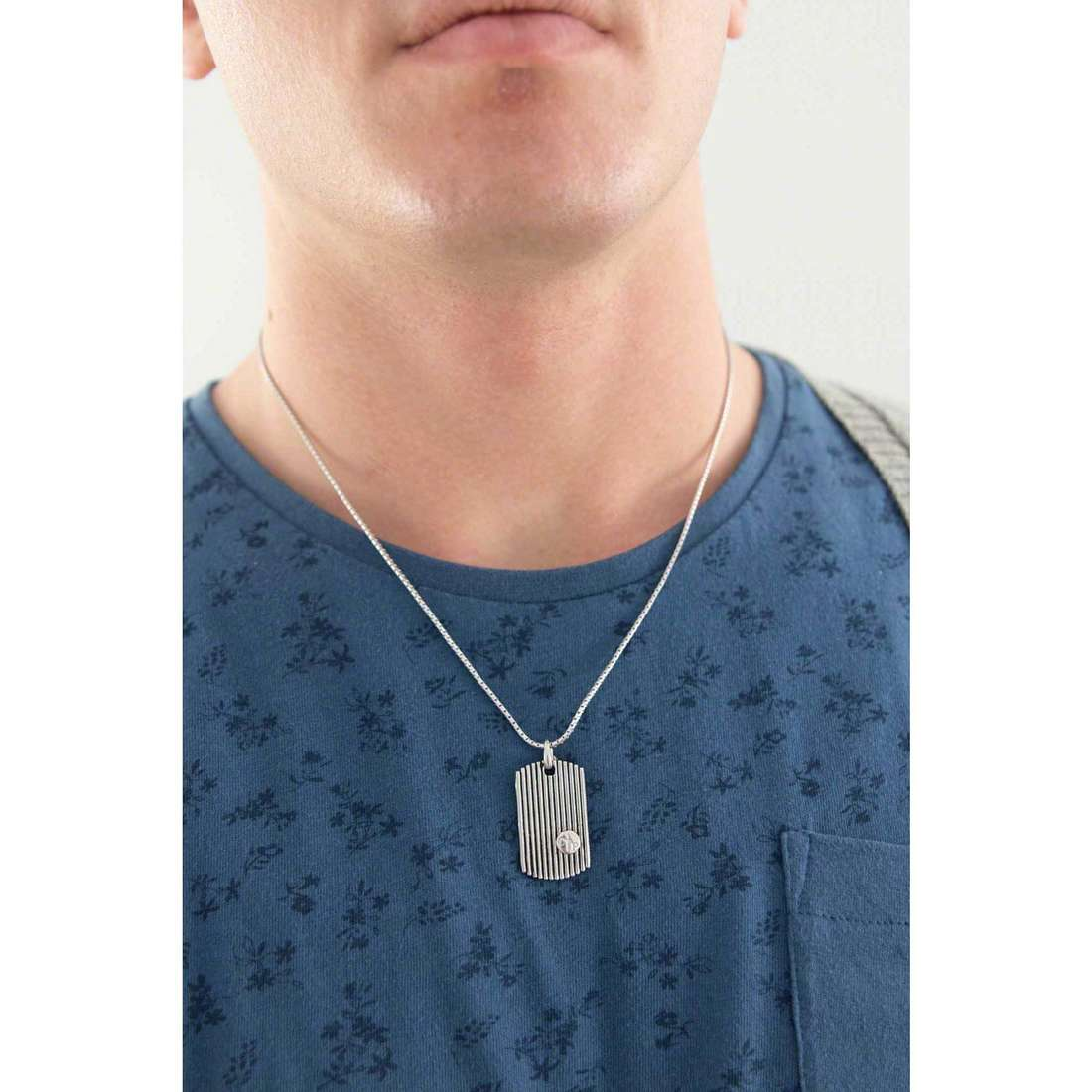 Cesare Paciotti necklaces man JPCL0975B indosso