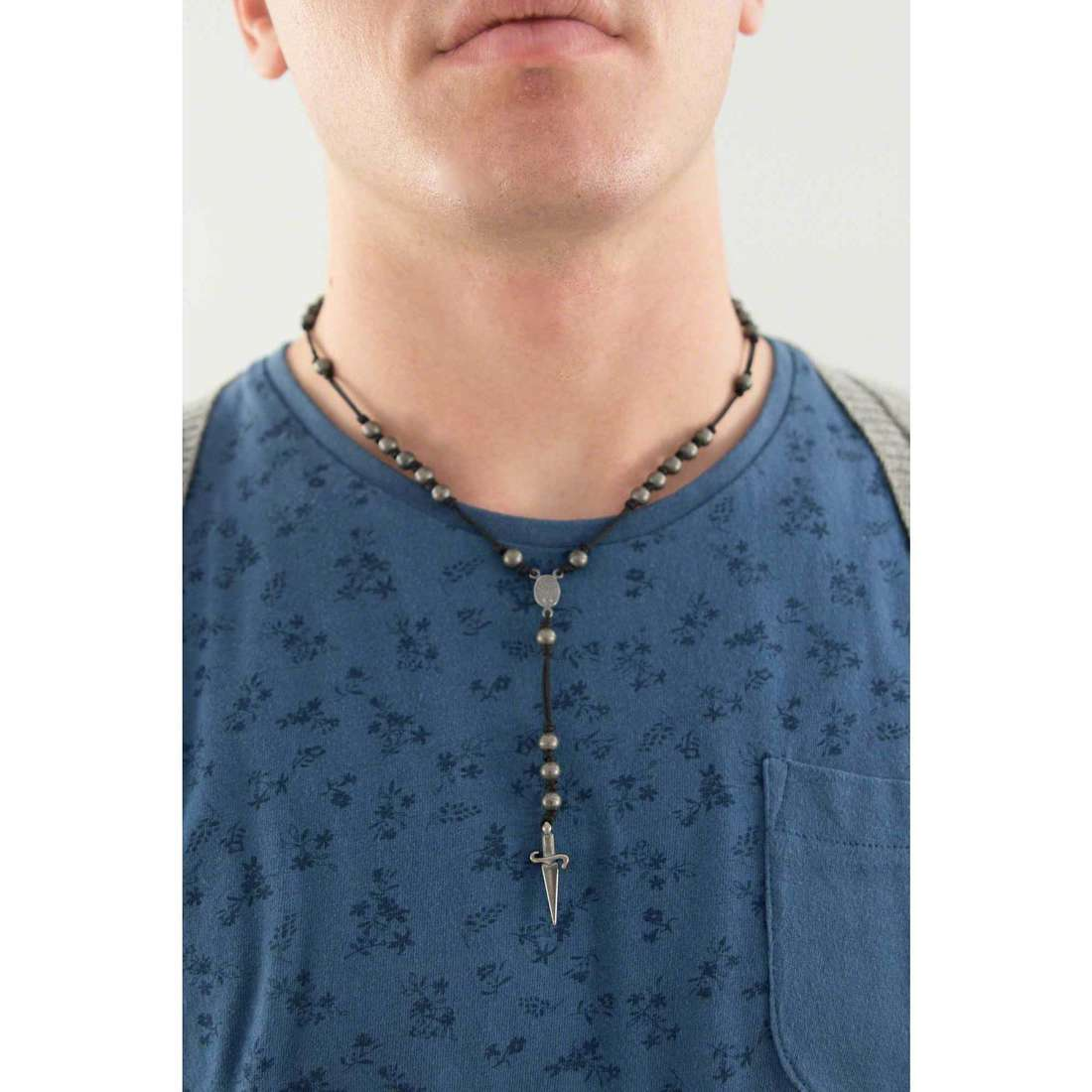 Cesare Paciotti necklaces man JPCL1051V indosso