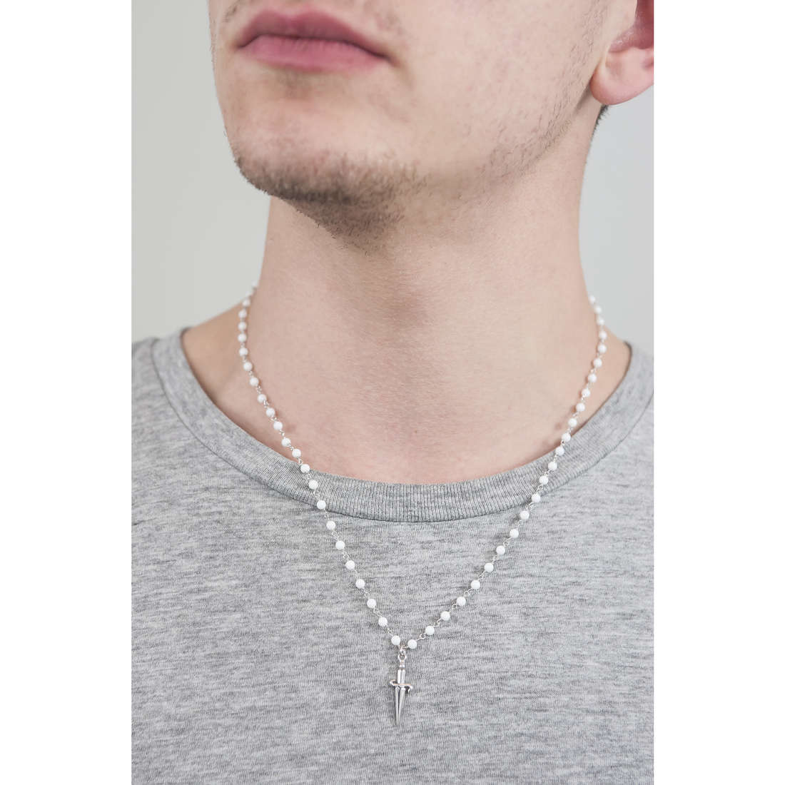 Cesare Paciotti necklaces man JPCL1195B indosso