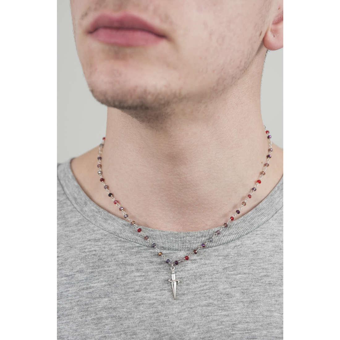 Cesare Paciotti necklaces man JPCL1203B indosso