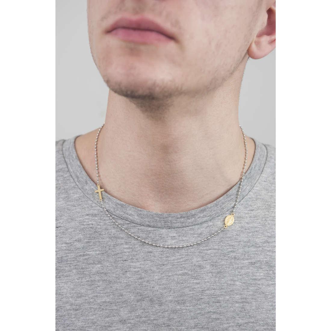 Cesare Paciotti necklaces man JPCL1239B indosso