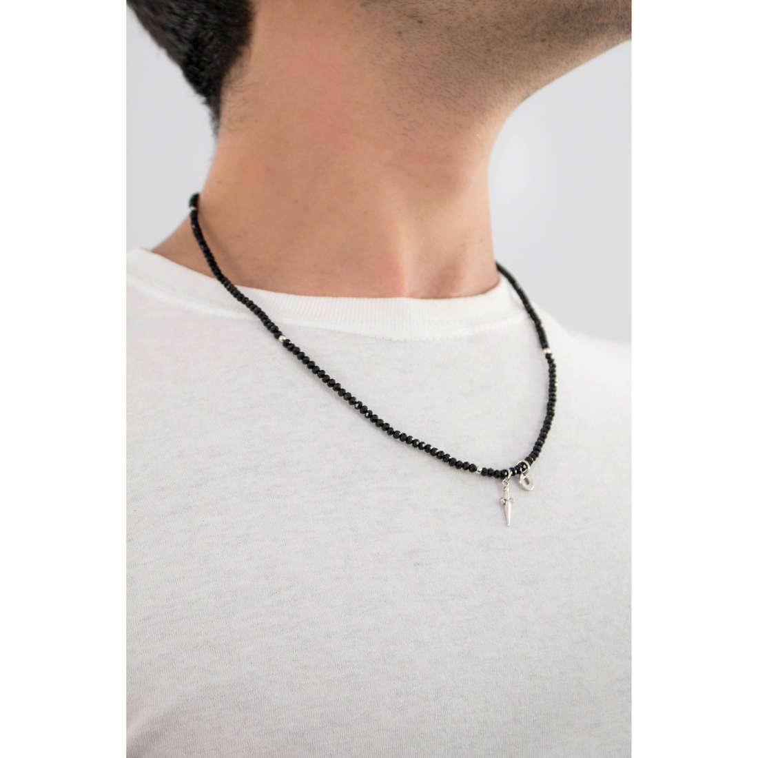 Cesare Paciotti necklaces Line man JPCL1128B indosso