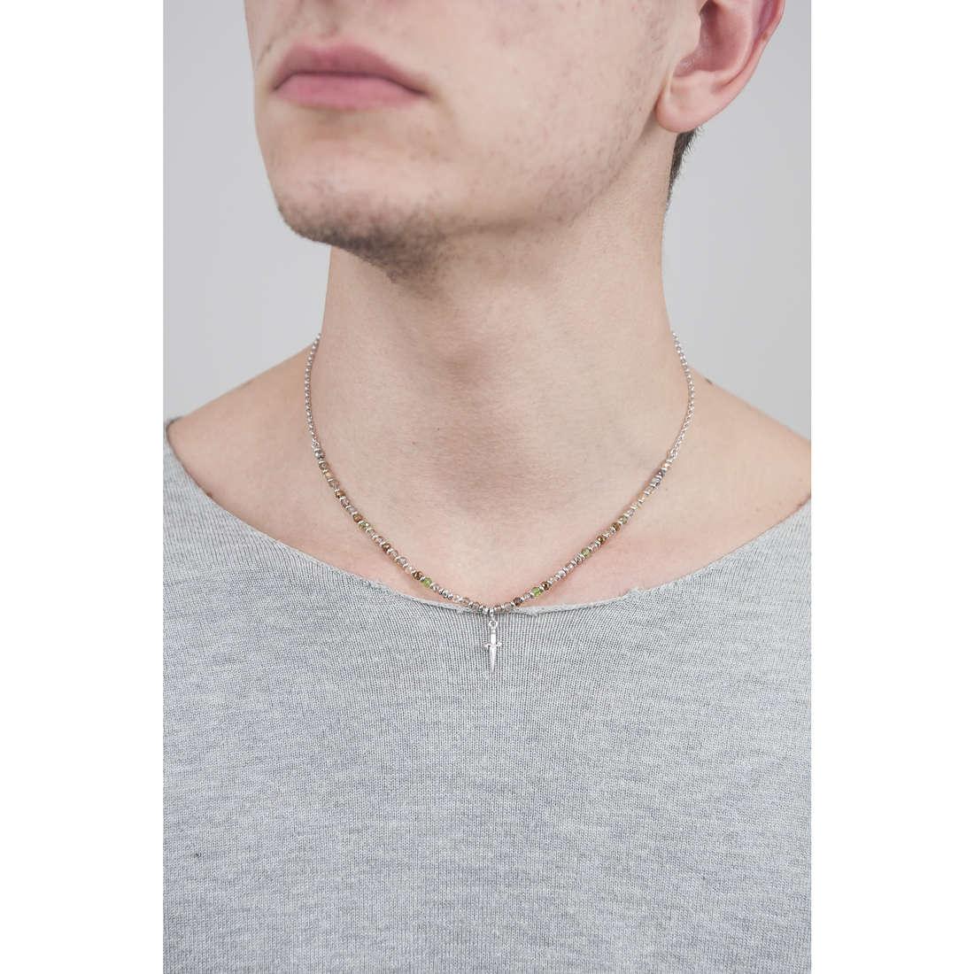 Cesare Paciotti necklaces Shade man JPCL1113B indosso