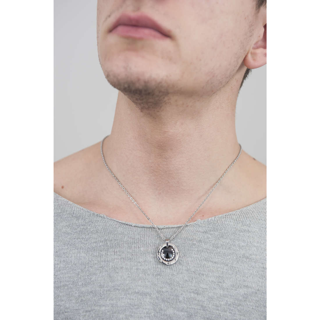 Luca Barra necklaces man LBCA205 photo wearing